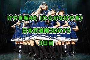 けやき坂46 ひらがなけやき ライブ 2018 日本武道館 レポ セトリ 3 イメージ画像